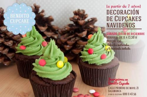 Taller de cupcakes de Navidad en Bendito Cupcake