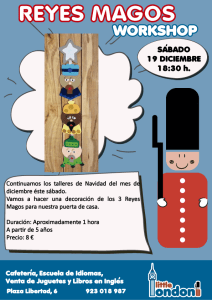 Taller de manualidades de decoración de Reyes Magos para las puertas en Little London