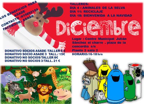 Talleres infantiles de ASADE en diciembre en Salamanca