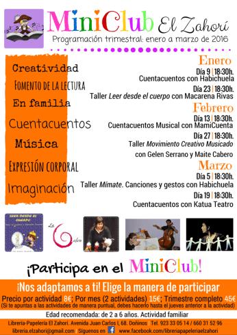 Actividades del MiniClub de la librería El Zahorí de Doñinos