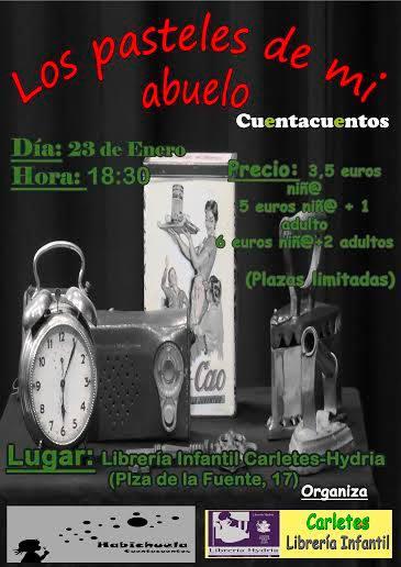 Cuentacuentos de Habichuela en la librería Hydria-Carletes de Salamanca