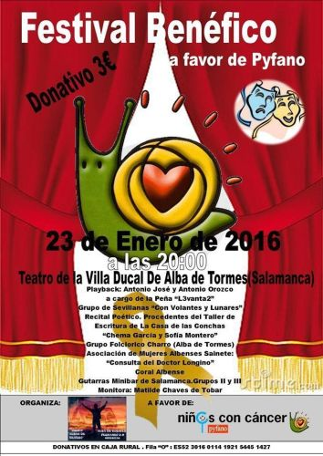 Festival benéfico a favor de Pyfano en Alba de Tormes
