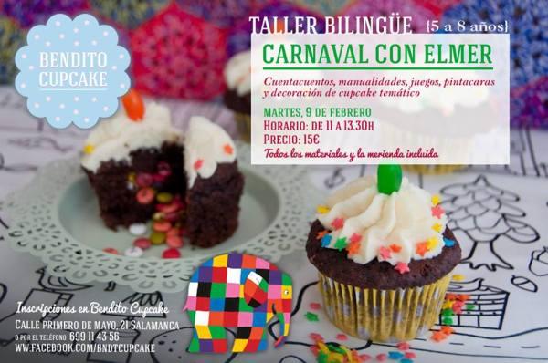 Carnaval con Elmer en Bendito Cupcake