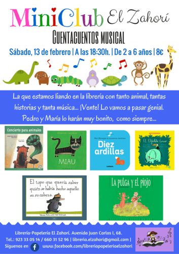 Cuentacuentos Musical en la librería El Zahorí de Doñinos