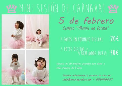 Mini Sesión de fotos de Carnaval en Mamis en Forma Salamanca con Mariagrafia
