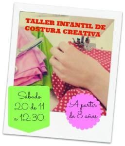 Taller infantil de costura creativa en Lola Botona