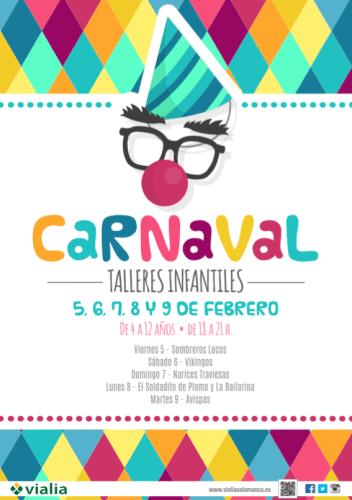 Talleres infantiles para celebrar el Carnaval en el Vialia Salamanca