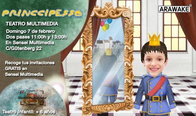 Teatro Multimedia Infantil El Princippesso en el Centro Sensei de Salamanca