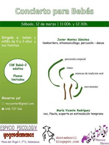 Concierto para bebés con María Vicente en Espacio Psicología Yoga