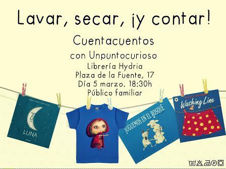 Cuentacuentos familiar con Unpuntocurioso en la librería Hydria-Carletes de Salamanca