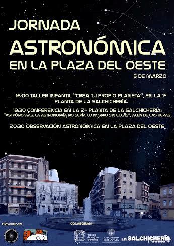 Jornada astronómica en la plaza del Oeste