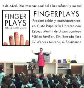 Rebeca Martín presenta fingerplays en la Librería Yus