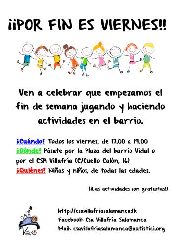 Actividades infantiles en el C.S.A. Villafria de Salamanca