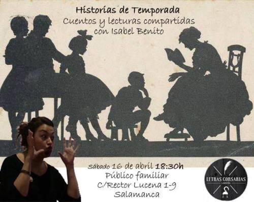 Cuentacuentos con Isabel Benito en Letras Corsarias