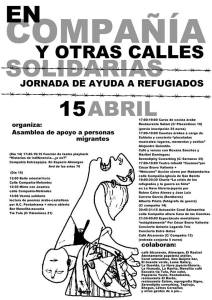 Jornada de ayuda a los refugiados el 15 de abril en la calle Compañia