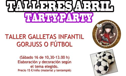 Talleres infantiles de galletas en Tarty Party el 16 de abril