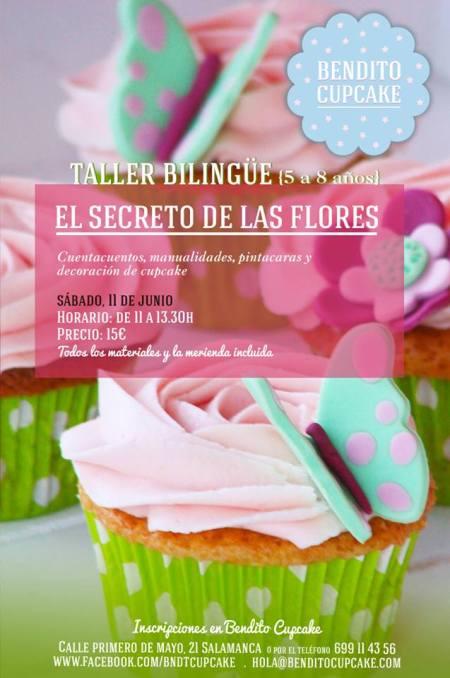 Taller bilingüe El Secreto de las Flores en Bendito Cupcake