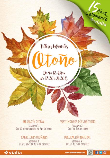 Talleres infantiles de otoño en Vialia Salamanca