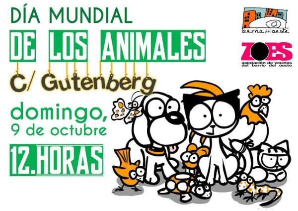Día de los Animales en la calle Gütenberg