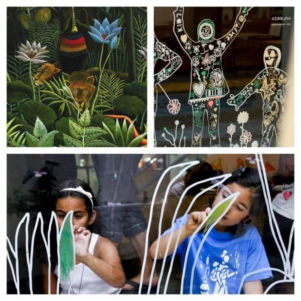 Henri Rousseau en el taller infantil de arte de Espacio Nuca