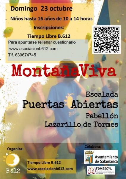 Jornada de puertas abiertas de escalada para niños en el rocódromo del Pabellón Lazarillo de Tormes