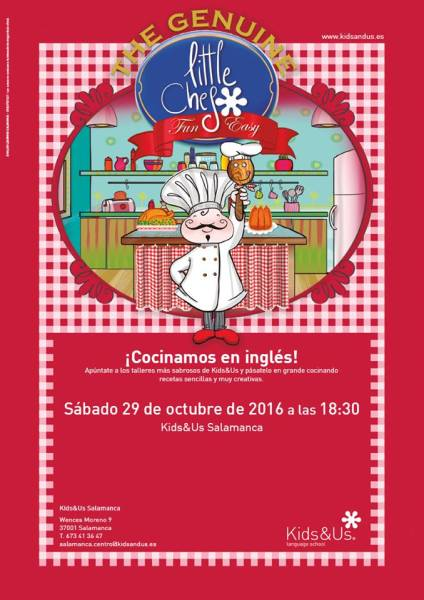 Taller infantil cocinamos en inglés en Halloween en Kids&Us Salamanca