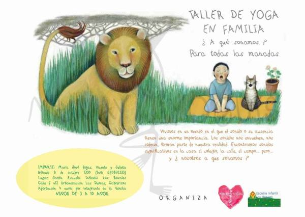 Taller de yoga en familia en la Escuela Infantil Los Rosales de Salamanca