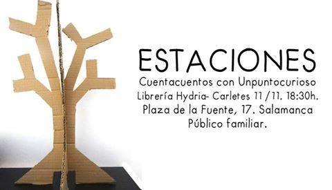 Cuentacuentos de Unpuntocurioso en la librería Carletes-Hydria