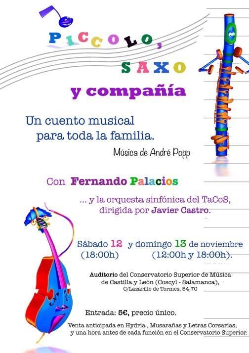Cuento musical en familia en el Conservatorio Superior de Música de Salamanca
