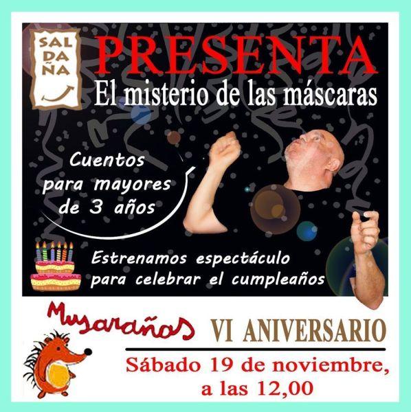 Fernando Saldaña cuenta en el 6º aniversario de la librería Musarañas de Salamanca
