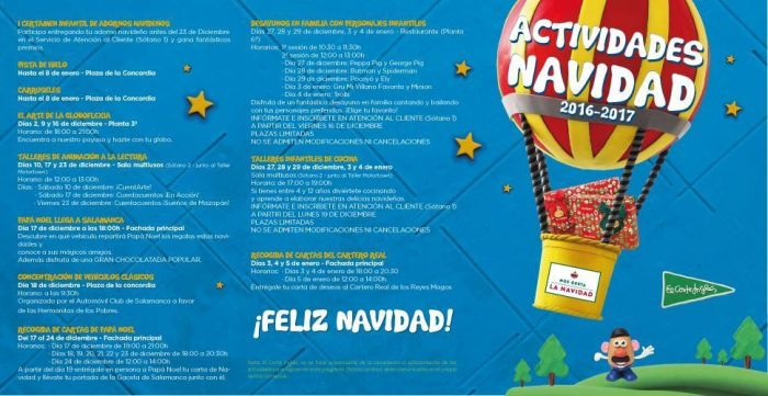 Actividades Infantiles en El Corte Inglés de Salamanca