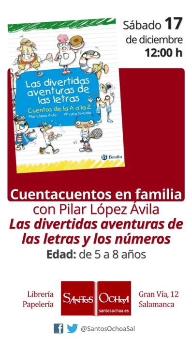 Cuentacuentos en familia con Pilar López Ávila en la librería Santos Ochoa