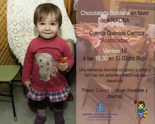 Cuentacuentos y chocolatada solidaria a favor de la Asociación Ariadna
