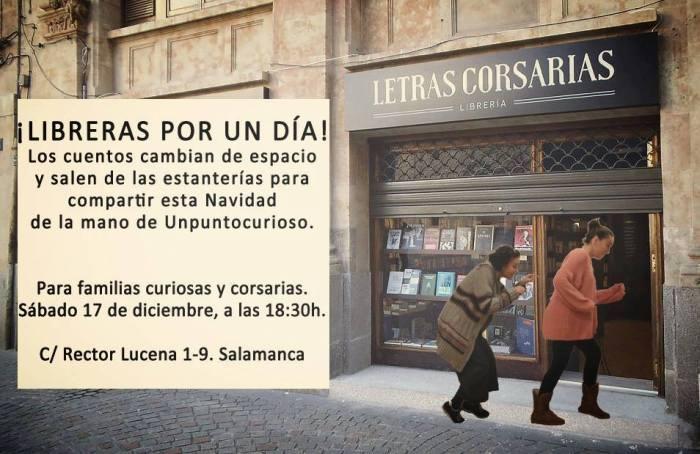 """""""Libreras por un día"""" es el espectáculo de Unpuntocurioso en la librería Letras Corsarias"""