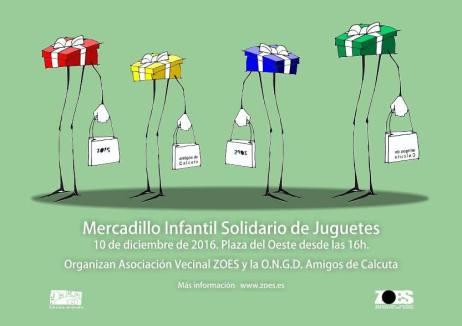Mercadillo Infantil Solidario en la plaza del Oeste