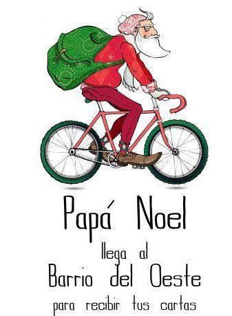Papá Noel llega al Barrio del Oeste