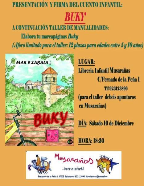 Presentación y taller de Buky en Musarañas