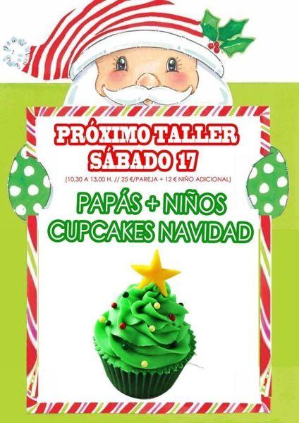 Taller de cupcakes de Navidad Adulto y Niño