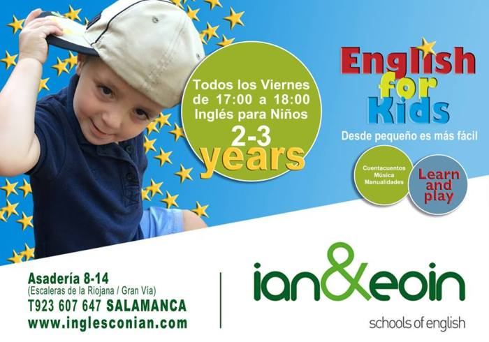 English for kids en Ian&Eoin en Salamanca