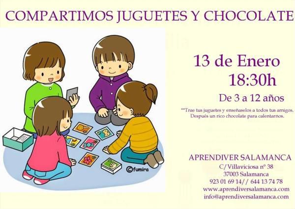 Taller en Aprendiver Compartimos juguetes y chocolate