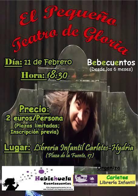 Bebecuentos de Gloria Fuertes en Carletes con Habichuela