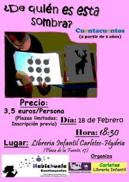 Cuentacuentos de Habichuela en la librería Carletes de Salamanca este sábado
