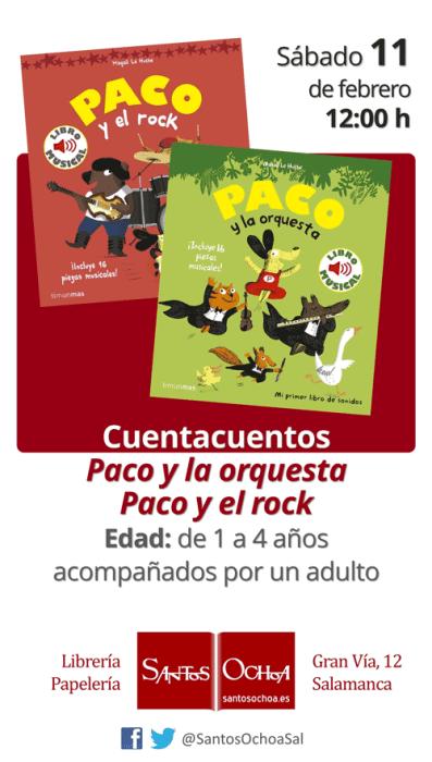 Cuento musical en la librería Santos Ochoa