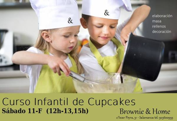 Curso infantil de cupcakes en Brownie and home este sábado