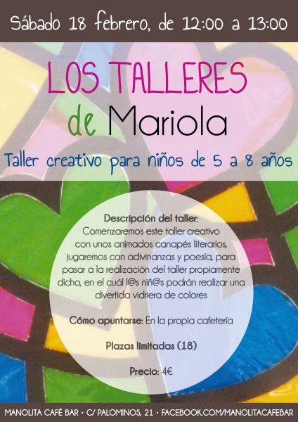 Taller creativo con Mariola en el Cafe Manolita