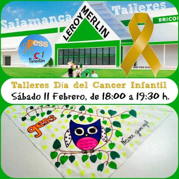 Taller sobre el cáncer infantil en Leroy Merlin Salamanca