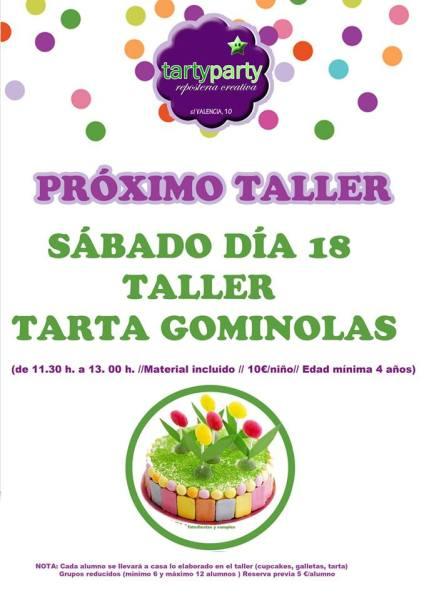 Taller infantil de tarta de gominolas en Tarty Party