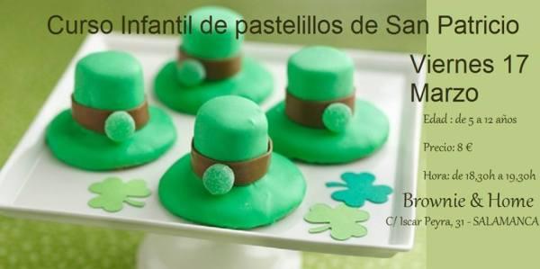 Curso infantil de pastelillos de San Patricio en Brownie & Home