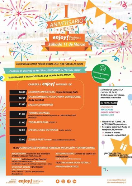 I Aniversario de Enjoy Wellness Aldehuela