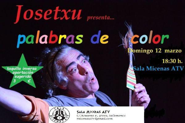 Josetxu Morán en la Sala Micenas con un espectáculo infantil
